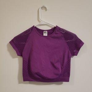 Purple sport crop top
